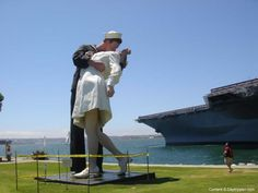 Unconditional Surrender or the Kiss Statue is adjacent to the USS Midway museum downtown San Diego. Visit our website for more information on the statue and a list of nearby attractiosn.