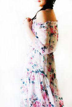 LURDES ENGLISH MORNING GARDEN DRESS #dress #country #style #floral #summer #boho #bohemian #festival #romantic #chiffon #floral #flowers #womens #woman # girl #fashion #style #trend #stylish #spring #chic #bohostyle #summerdress #womensdress #cheap #etsy