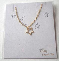 bracelet TINY chaine fine doré étoile de Shlomit Ofir
