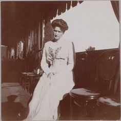 Empress Alexandra Feodorovna-was used to the old cameras & you very seldom see her smiling for a picture. Alexandria and Nicholas were devoted to each other...some say it was a  love that brought down the empire.