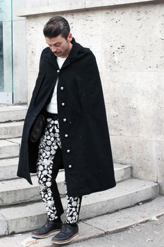 I'm beginning to like capes.  #givenchy #cape for men