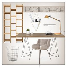 """""""Home Office"""" by lovethesign-shop ❤ liked on Polyvore featuring interior, interiors, interior design, home, home decor, interior decorating, Menu, home office, homedecor and homeoffice"""