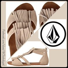 [VOLCOM] BACKSTAGE FRINGE SANDALS Size--8 & 9 With Tags $58 Retail + Tax   Put your style in the spotlight with this suede T-Strap fringe vamp sandal!  *Suede Leather upper *T-Strap fringe detail *Zip closure back heel *Leatherette lining *Logo grippy rubber outer-sole *Runs true to size   2+ BUNDLE=SAVE  ‼️NO TRADES--NO HOLDS--NO MODELING   Brand Items Authentic   ✈️ Ship Same Day--Purchase By 2PM PST    USE BLUE OFFER BUTTON TO NEGOTIATE  ✔️ Ask Questions Not Answered In Description--Want…
