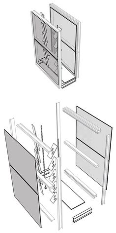 Dichroic Curtain Wall by Brittany Drapac Architecture Details, Brittany, Diagram, The Unit, Curtains, Storage, Wall, Projects, Tech
