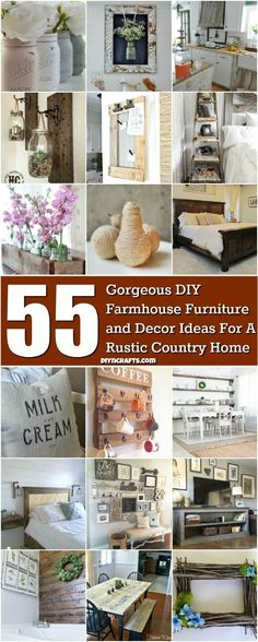 55 Gorgeous DIY Farmhouse Furniture and Decor Ideas For A Rustic Country Home - Probably the best collection to bring more country farmhouse decor into your life. via @vanessacrafting