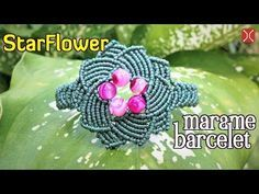 Macrame tutorial: The star flower bracelet - step by step guide by Tita - YouTube