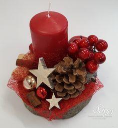 Výsledek obrázku pro vanocni ozdoby z prirodnich materialu Christmas Crafts, Christmas Decorations, Driftwood, Pillar Candles, Advent, Projects To Try, Creative, Ideas, Home Decor