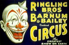 vintage freaky clown