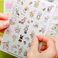 6 лист(ов) / много-симпатичные мультфильм кролик DIY многофункциональные дневник наклейки / прекрасный украшения канцелярские принадлежности и школьные принадлежности WJ0217