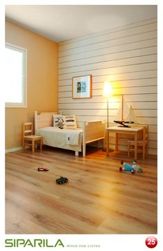 ROSO-sisustuslauta soveltuu hyvin lastenhuoneiden sisustusmateriaaliksi. ROSOn pinta kestää hyvin elämän kolhuja.