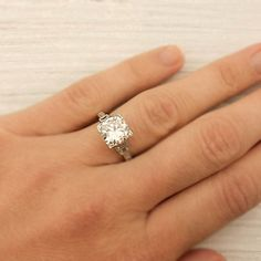 SWOON'!!!!!!!!!!!    202 Carat Old European Cut Diamond Engagement by ErstwhileJewelry, $24000.00