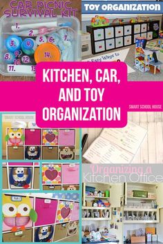 Kitchen Car and Toy Organization