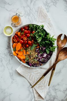 *photos by ashleigh amoroso This salad is my clean-eating, detoxifying secret weapon. I invented it one Sunday after coming home from the farmer's market with a big head of purple ...read more