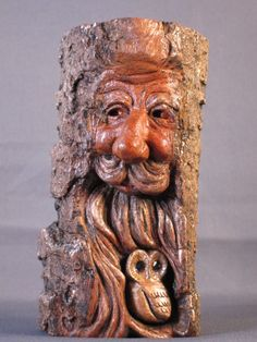 http://www.etsy.com/shop/SusanAlexanderCarves  Two Woodland Friends carved by Susan Alexander. See more of her carvings at her Etsy Shop.