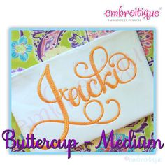 All Products - Buttercup Calligraphy Monogram Super Set Medium - ALL ALTERNATES INCLUDED! on sale now at Embroitique!