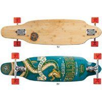 "Sector 9 Striker Complete ( sz. 9.50, Blue ) by Sector 9. $209.99. What could be better than a Sidewinder board with bamboo core, you ask? How about one sandwiched in fiberglass? Much better. This tight carver also features the new 10"" Sidewinder II's, with a little bit of camber and a kicktail for added functionality.  All Sector 9 Completes come fully assembled and ready to ride right out of the box - with top quality factory stock Sector 9 components.. Save 11%!"