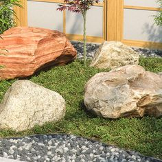 REAL BOULDERS is a model library of 15 photoscanned real-world boulders for architectural visualization, available in various formats.