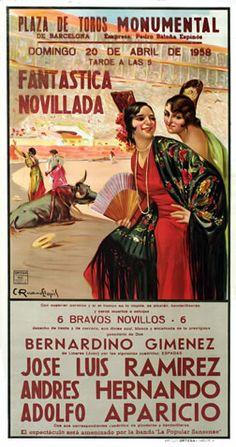 Llopis, Carlos Ruano poster: Plaza de Toros Monumental - Fantastica Novillada