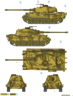 King Tiger Ausf.B Two-Color Camouflage Color Profile and Paint Guide Added