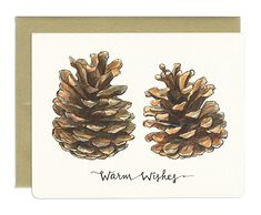 Wholesale Pinecones Warm Wishes Card