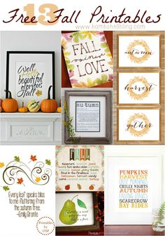 These 13 free fall printables are perfect for quick and easy fall home decorating!