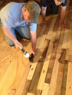 how to make and lay timber flooring artwork