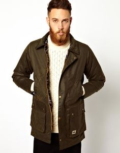 Brixtol Waxed Jacket with Cord Collar. And this one :( winter , fall , jfav , sweater