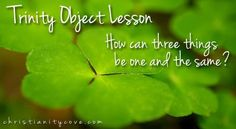 """St. Patrick is known for teaching the people of Ireland about the Trinity. He used the shamrock to teach about three things being one, but we can use things found in the classroom! This Bible object lesson will use shapes to answer the question """"How can three separate things be one and the same?"""""""