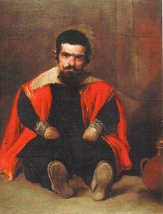 Diego Velazquez - El bufón Sebastián de Morra (debated attribution) (oil on canvas, 1645)