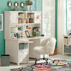 I love the Beadboard Smart Desk + Hutch ~ this is what I want for my home office