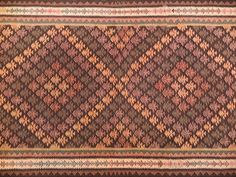 This hand made kilim rug is flat woven in a tapestry weave. The beautiful design is from Persian tribal weavers. The rug is probably more than 50 years old and White Crane, Oriental Rugs, 50 Years Old, Tapestry Weaving, Kilim Rugs, Persian, Handmade, Beautiful, Vintage