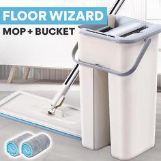 "Cleaning has never been so easy. Our Floor Wizard™ lets you quickly clean any type of floor or wall, all without having to touch the mop head. Cut your cleaning time in half, and click the ""BUY IT NOW!"" button to get yours 50% Off!        FEATURES   360° flexible mop head to effortlessly clean hard to reach spots Hands"