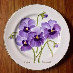 """Set de pratos """"Botânica """" pintados mão …"""