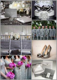 Silver Wedding Ideas / Are You Into Heavy Metal? « David Tutera Wedding Blog • It's a Bride's Life • Real Brides Blogging til I do!