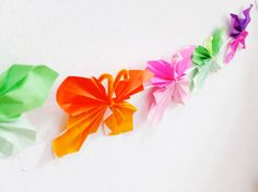 Paper butterfly garland decoration