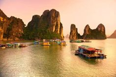 Halong Bay, Vietnam -- With its unique rock formations and calm waters, Halong Bay is a photographer's dream.