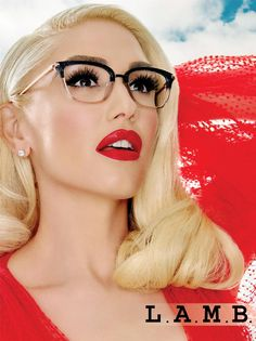 Gwen stefani reveals her favorite makeup tip for ladies who wear glasses on yahoo lifestyle Cute Glasses, Girls With Glasses, New Glasses, Eyeglasses For Women, Sunglasses Women, Vintage Sunglasses, Fashion Eye Glasses, Eye Frames, Gwen Stefani