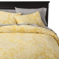 Threshold™ Gully Paisley Duvet Cover Set - Yellow (white sheets and embroidered ivory quilt needed)