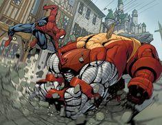 Spidey vs Juggernaut Colossus