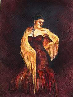 Tancerka flamenco 28x37