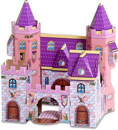 Palacio de princesa.  Juego de cartón impreso con encastres.