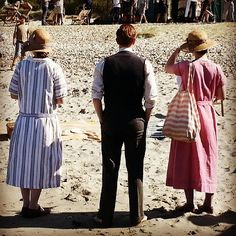 Downton Abbey goes to the beach. West Wittering Beach