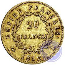 FRANCE 20FRANCS NAPOLÉON EMPEREUR 1812L conservation: TTB