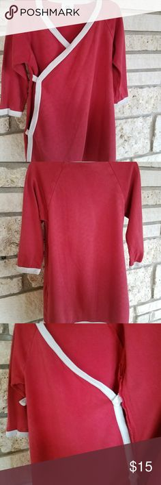 Kate Quinn Organics red dress girls size 4T The best dress ever!! Snaps on inside and out...one small hole on cuff...scuff on button see pix kate quinn Dresses Casual
