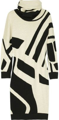 ShopStyle: Diane von Furstenberg Intarsia sweater dress