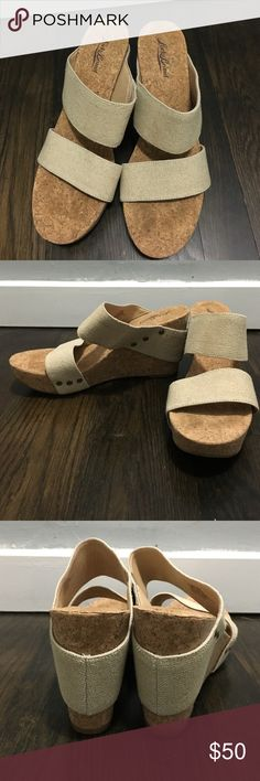 Lucky brand wedges Lightly worn. Lucky Brand Shoes Wedges