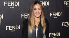 Sarah Jessica Parker wearing a vintage Victorian House of Lavande necklace to the Fendi Flagship opening in NYC