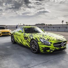 This isn't just a GT S—this is one of the GT S' that Mercedes-AMG tested all over the world. Upon completion of the testing phases, Mercedes-AMG had gone through 4,920 tires and covered an incredible 21,000 miles on the Nürburgring alone and used 32,000 sqft of camouflage to cover all of the test cars.