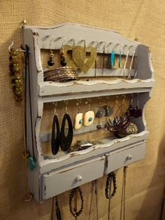 Upcycled Jewelry Organizing Display