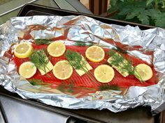 Copper River Salmon - Grill Roasted w/ Lemon, Dill & Butter Copper River Salmon, Wild Alaskan Salmon Sockeye Salmon Recipes, Wild Salmon Recipe, Grilled Salmon Recipes, Healthy Salmon Recipes, Fish Recipes, Seafood Recipes, Tilapia Recipes, Smoker Recipes, Grilling Recipes